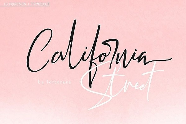 California Handwritten Font