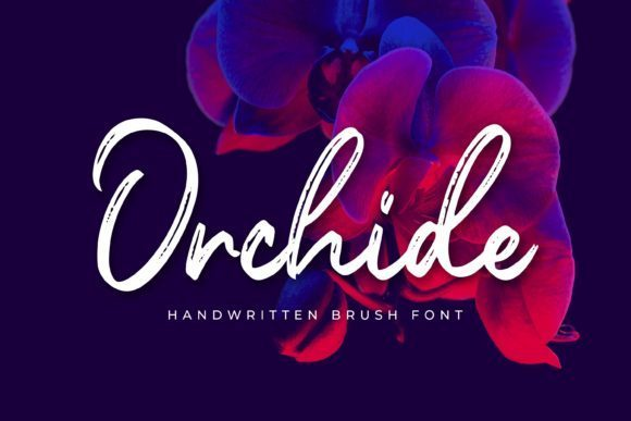 Orchide Handwritten Brush Font