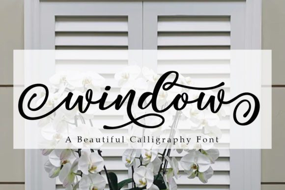 Window Modern Calligraphy Font