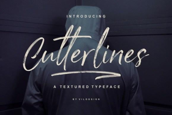 Cutterlines Brush Font