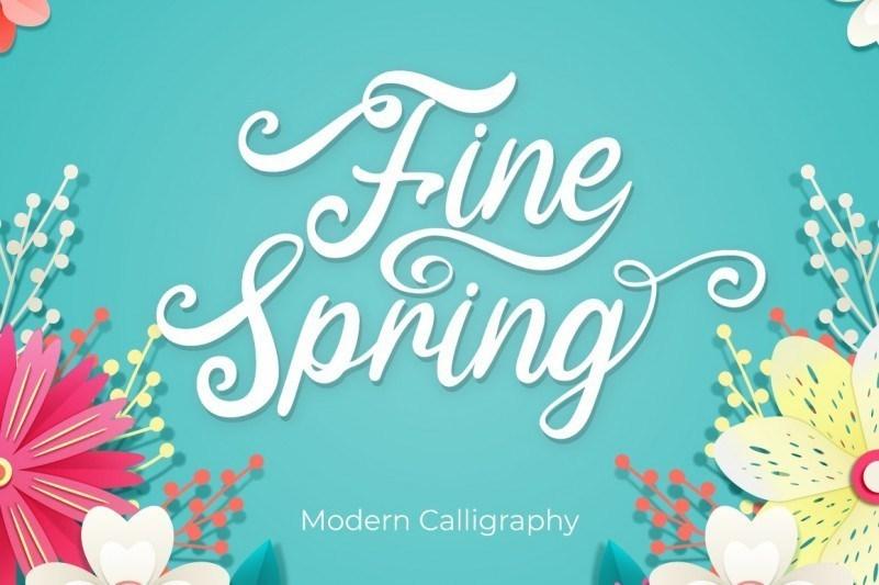 fine-spring-font-1
