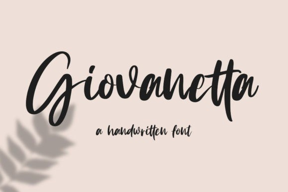 Giovanetta Bold Handwritten Font