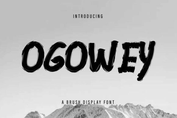 Ogowey Brush Display Font
