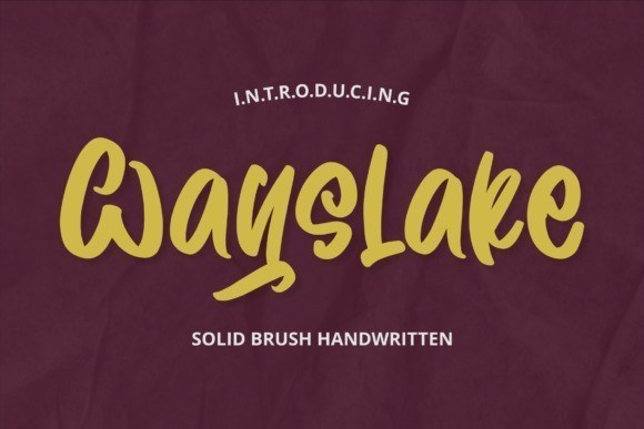 Wayslake Brush Handwritten Font