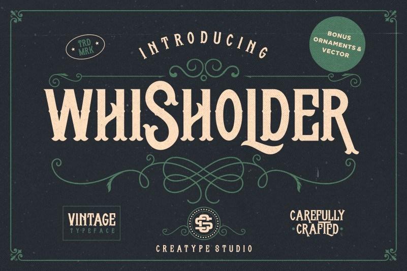 whisholder-vintage-retro-font