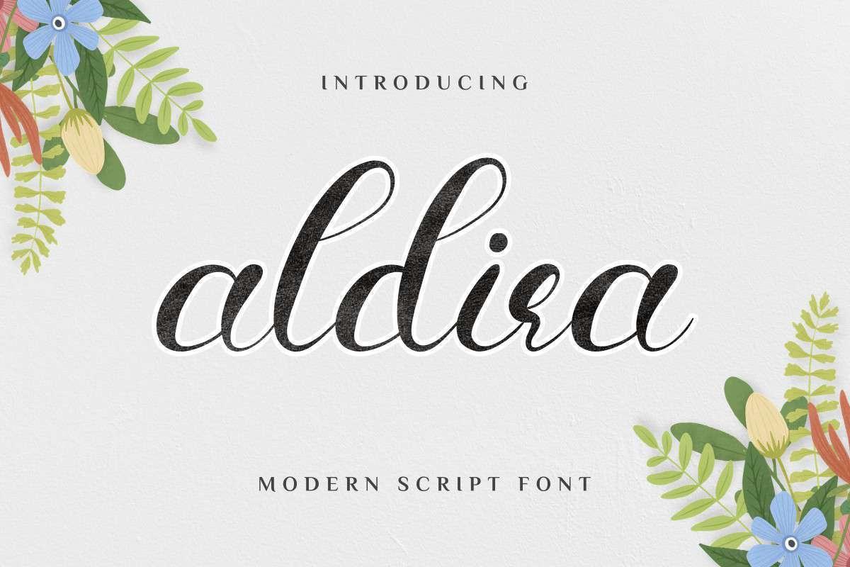 Aldira-Calligraphy-Script-Font-1