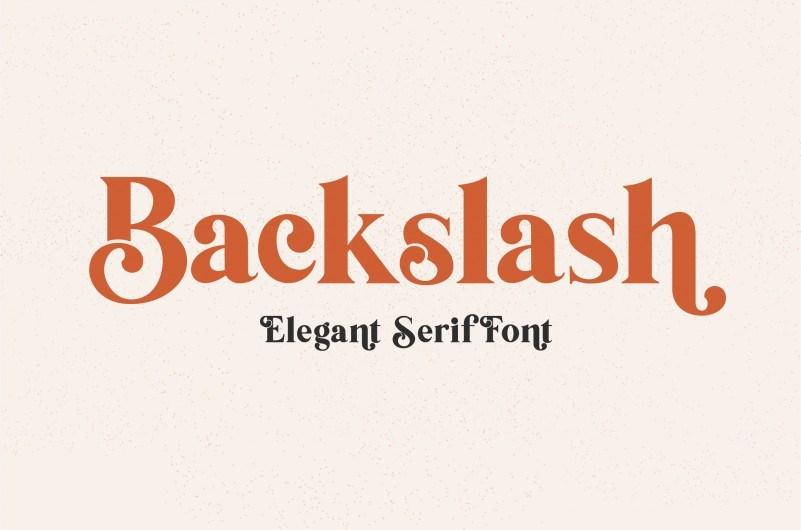Backslash-Serif-Font-1