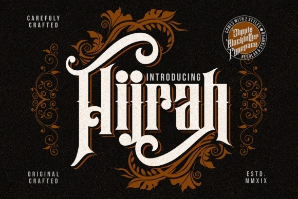 Hijrah Display Gothic Font