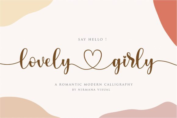 Lovely Girly Calligraphy Font