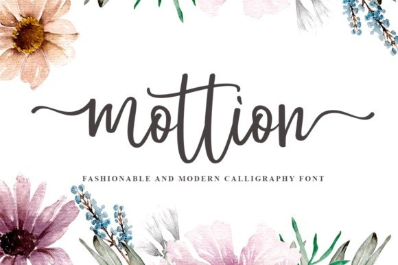 Mottion Modern Calligraphy Font