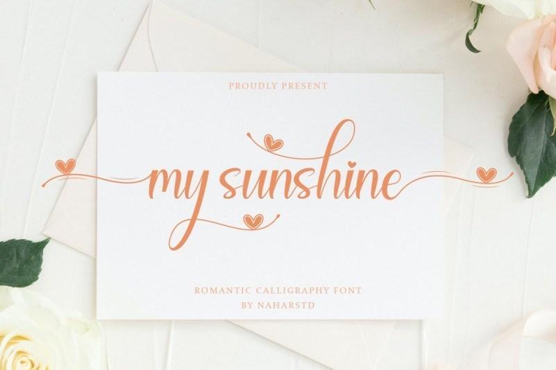 My-Sunshine-Calligraphy-Font