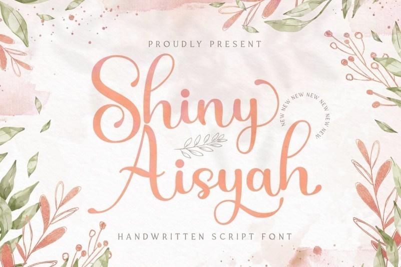 Shiny-Aisyah-Font-1