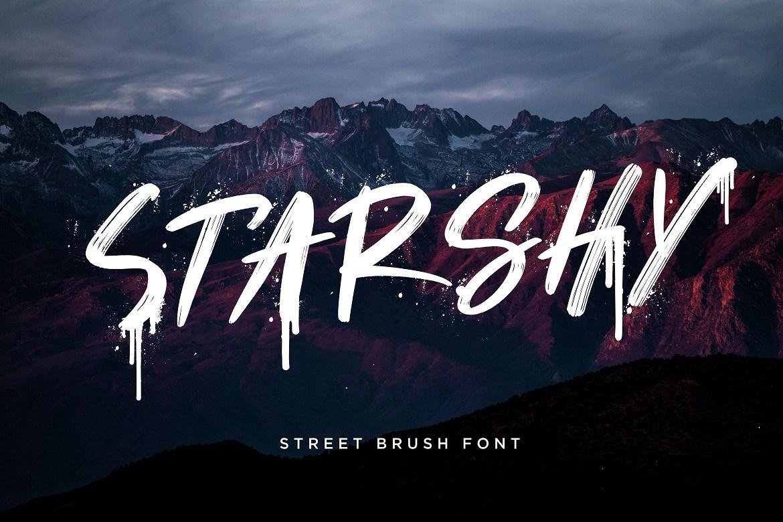 Starshy-Street-Brush-Font