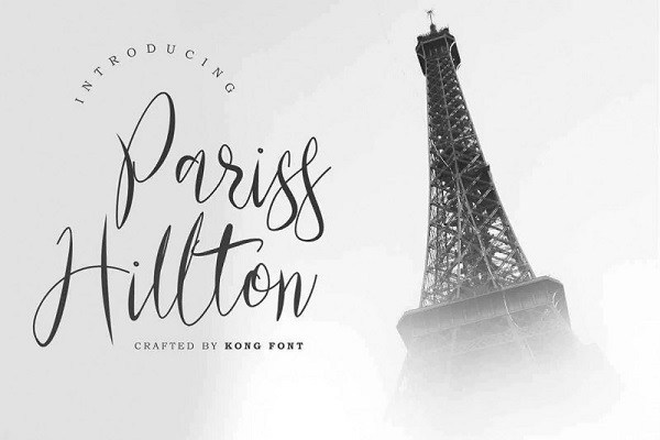 Pariss Hillton Calligraphy Font