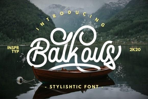 Balcous Monoline Script Font