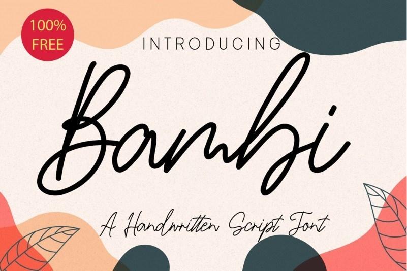 Bambi-Handwritten-Script-Font-1