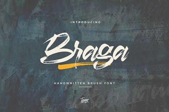 Braga Brush Script Font