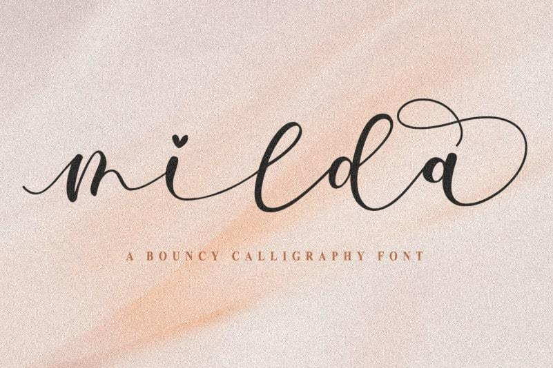 Milda-Bouncy-Calligraphy-Script-Font-1