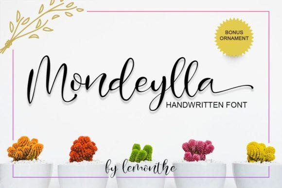 Mondeylla Calligraphy Font