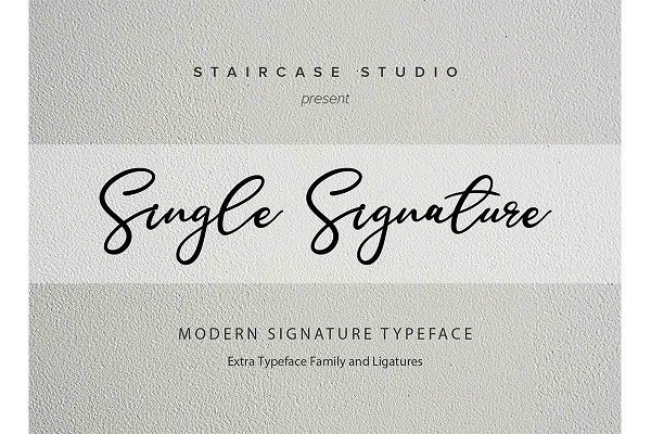 Single Signature Font