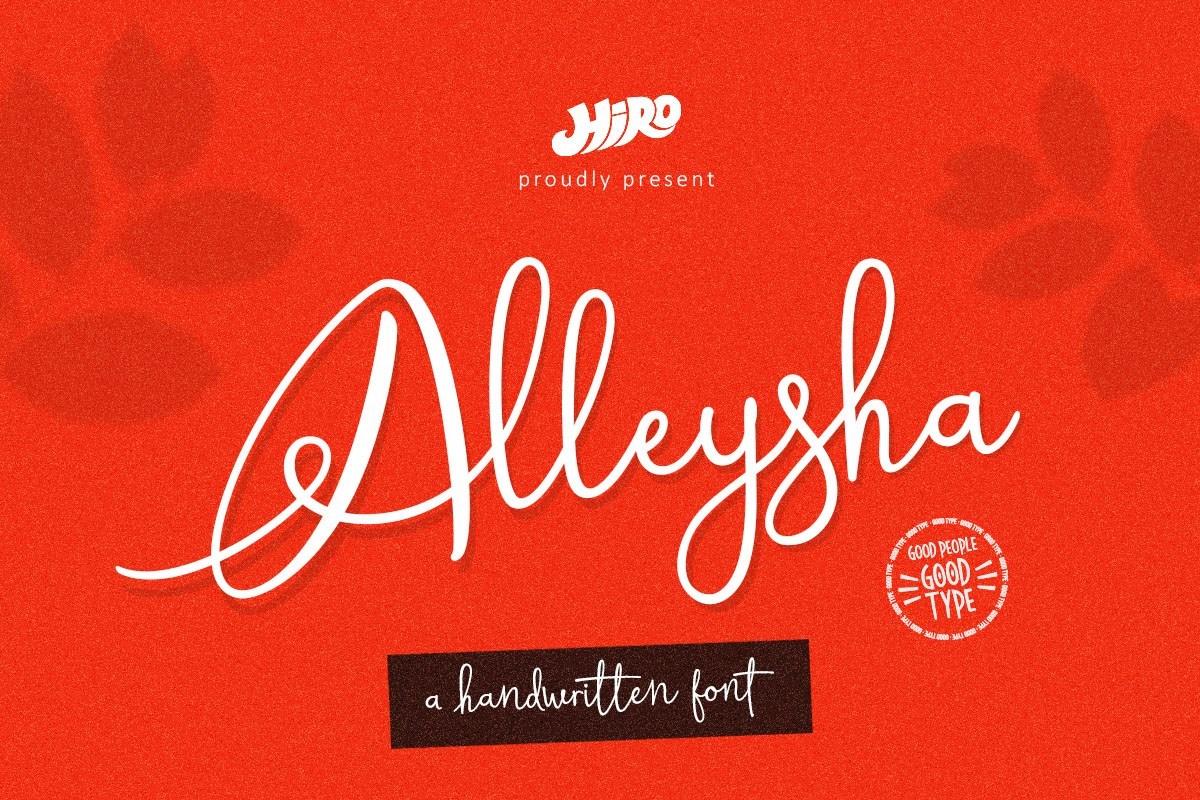 Alleysha-Handwritten-Script-Font-1