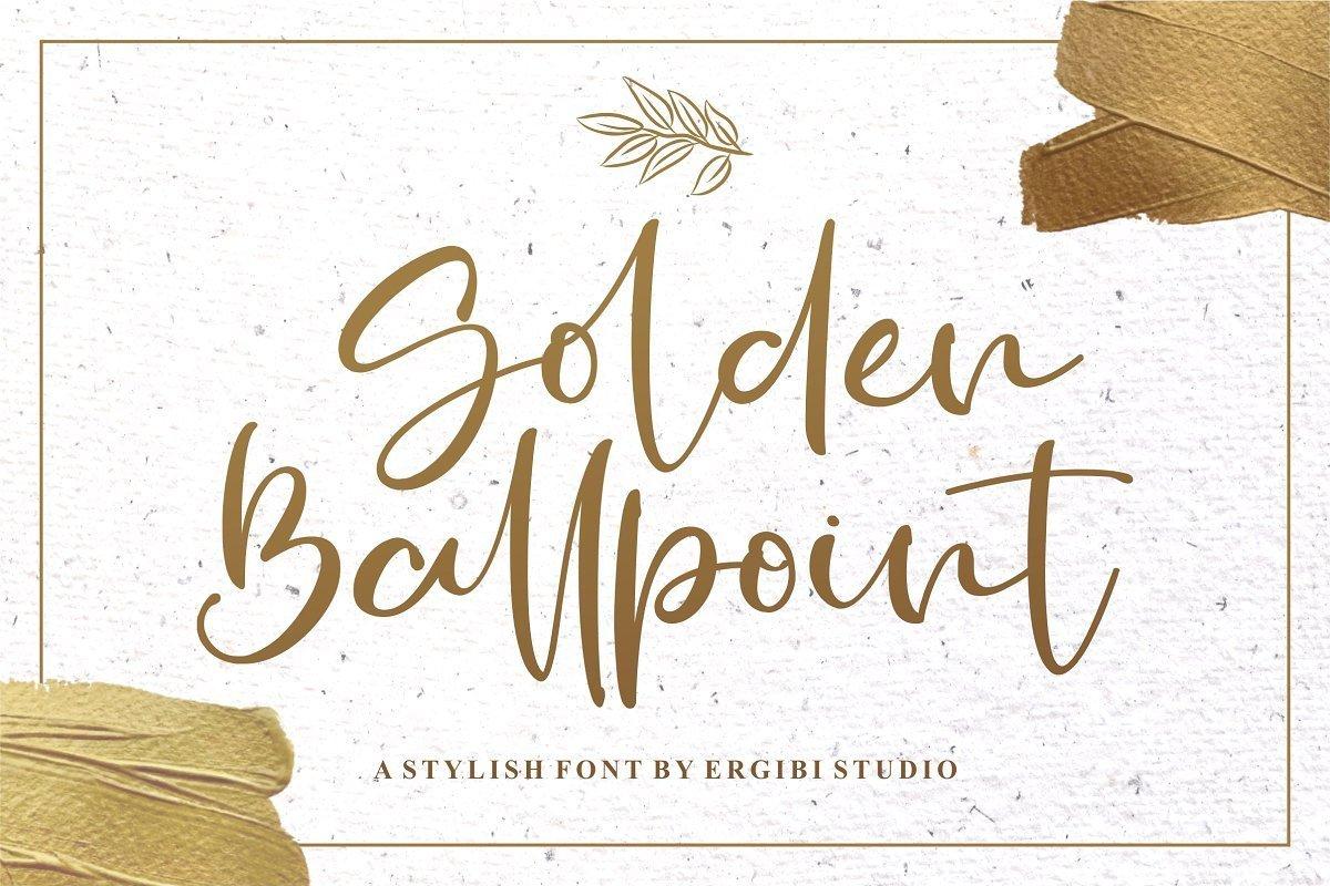 Golden-Ballpoint-Handwritten-Script-Font-1