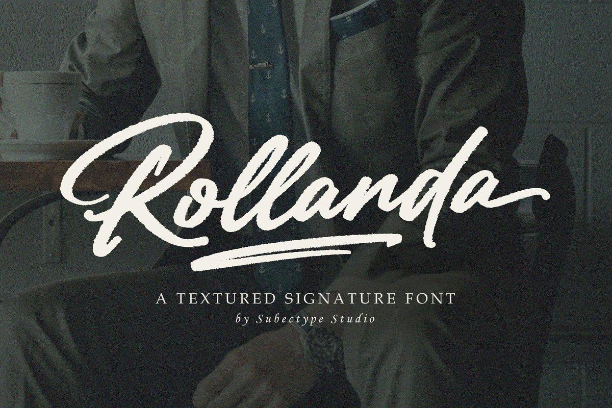 Rollanda-Textured-Signature-Script-Font-1
