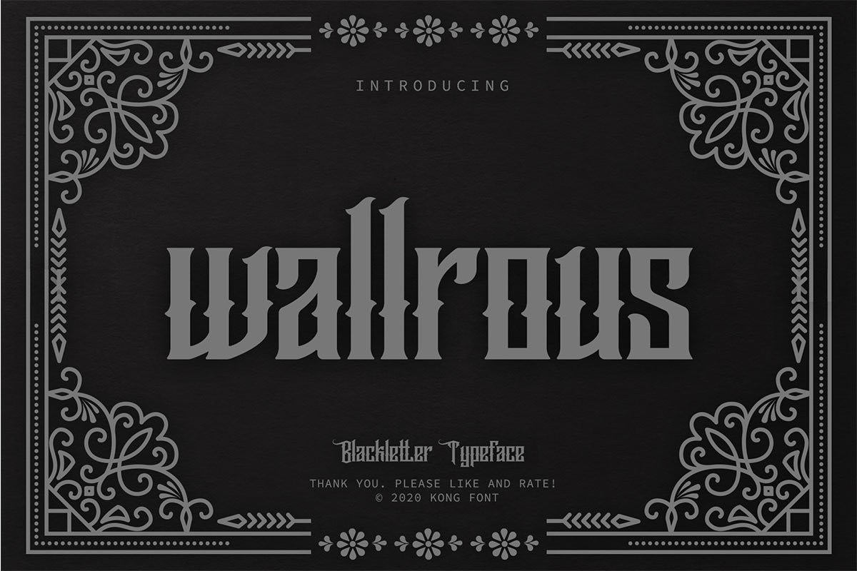 Wallrous-Blackletter-Tattoo-Typeface