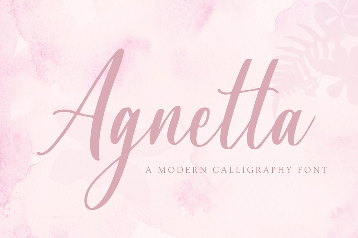 Agnetta-Calligraphy-Script-Font