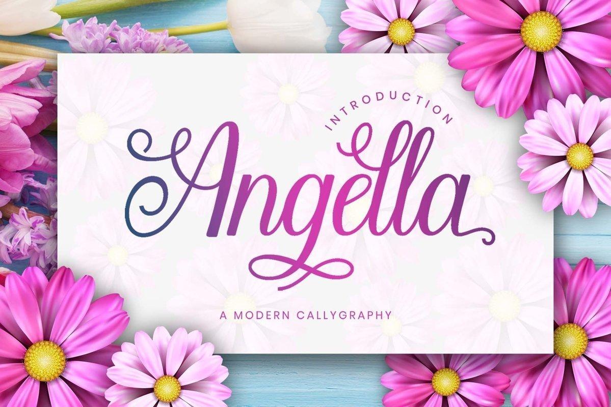 Angella-Calligraphy-Script-Font