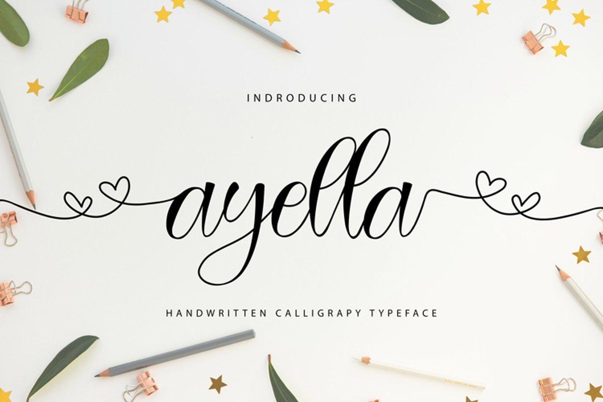 Ayella-Handwritten-Calligraphy-Typeface-1