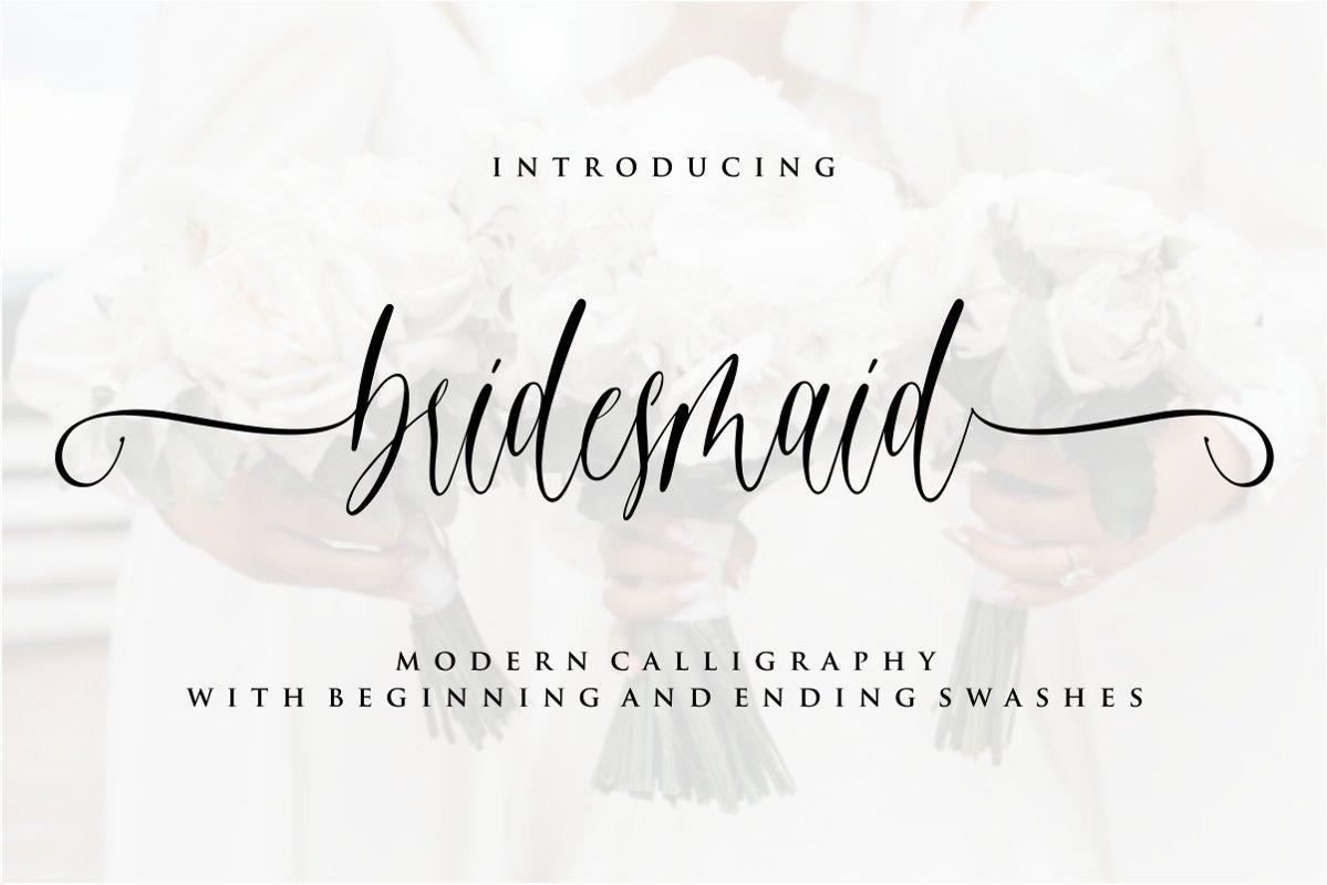 Bridesmaid-Calligraphy-Script-Font