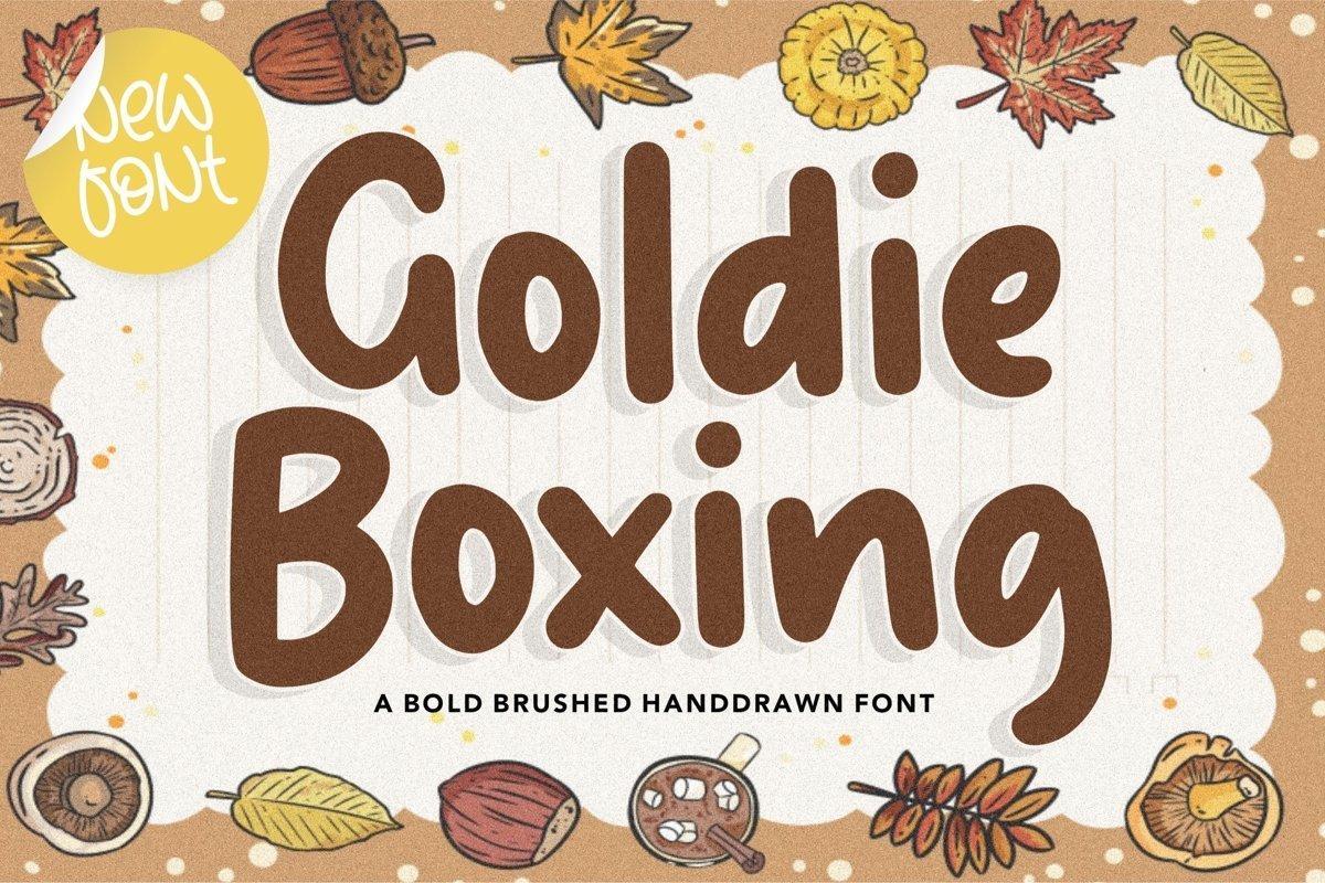 Goldie-Boxing-Bold-Script-Font