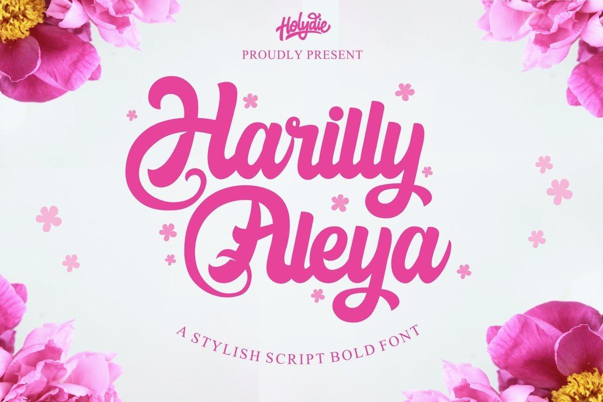 Harilly-Aleya-Bold-Script-Font-1