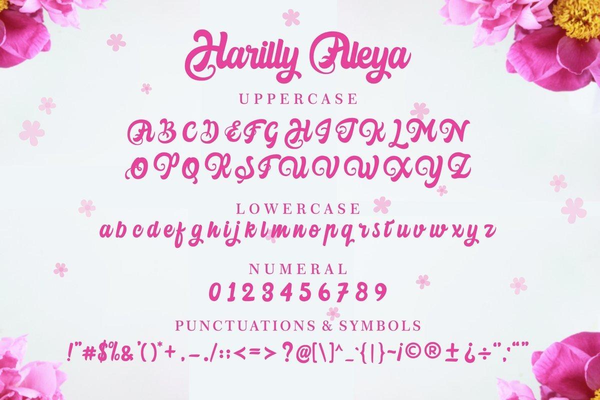 Harilly-Aleya-Bold-Script-Font-3