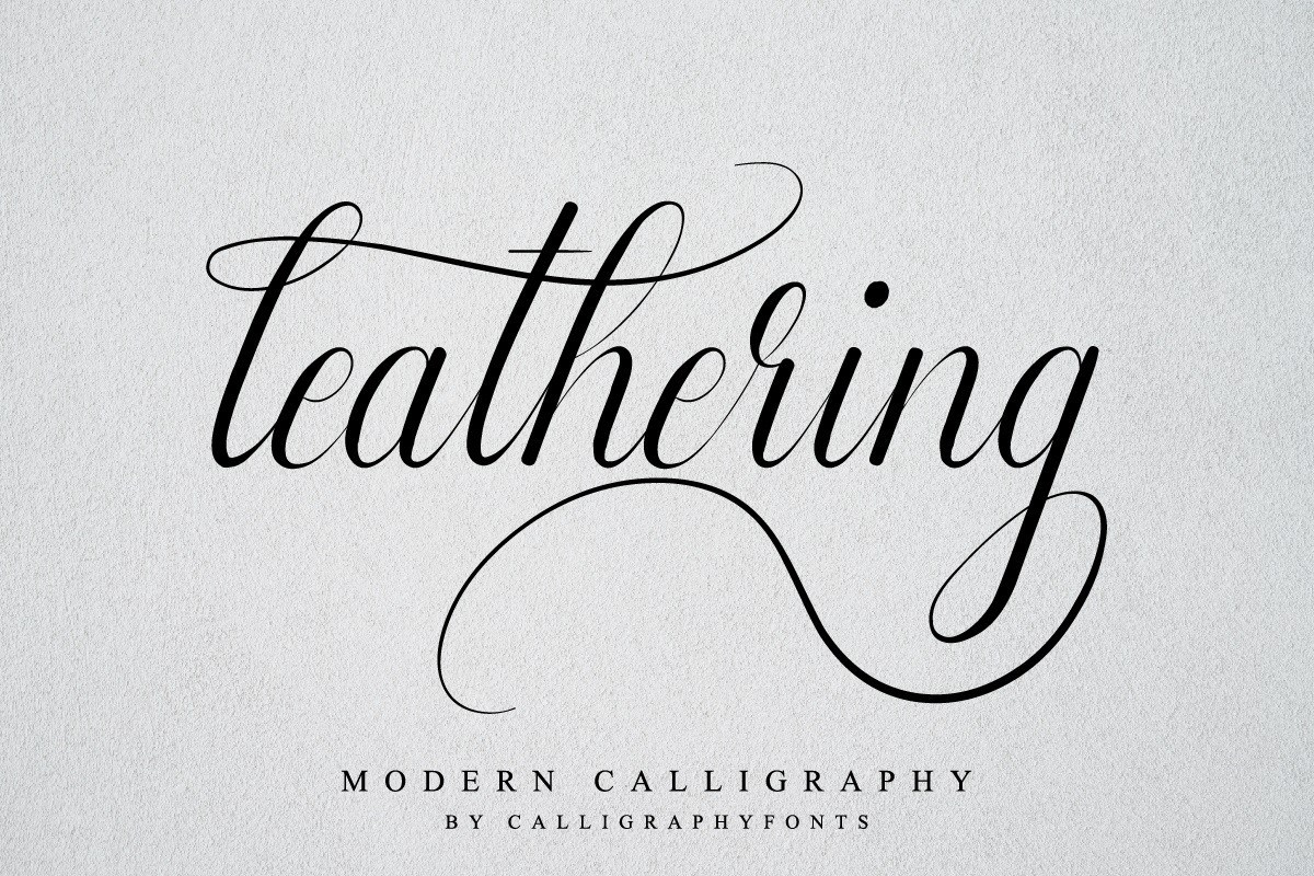 Leathering-Modern-Calligraphy-Font
