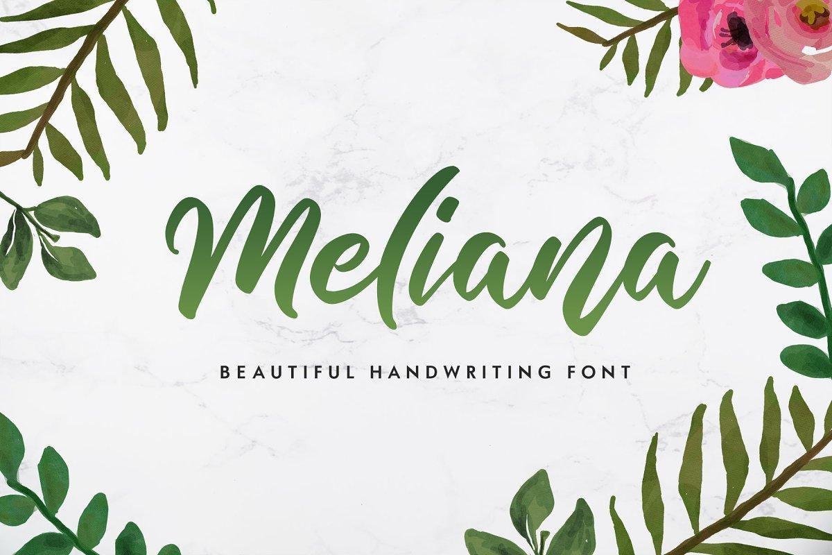 Meliana-Handwritten-Script-Font-1