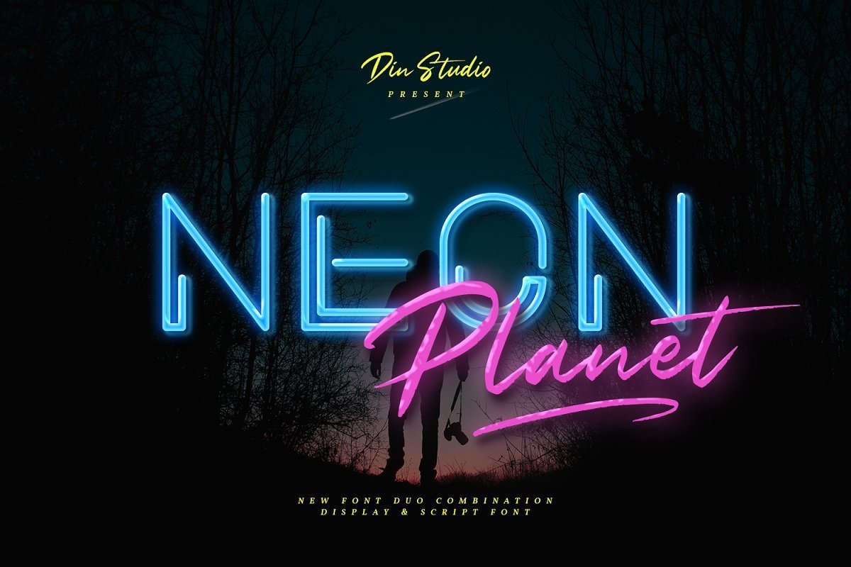 Neon-Planet-Display-Typeface