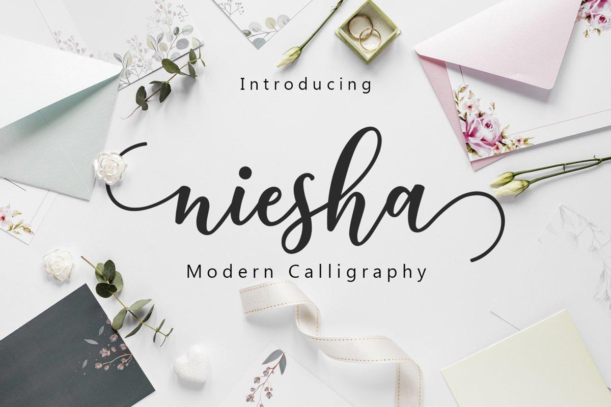 Niesha-Modern-Calligraphy-Script-Font