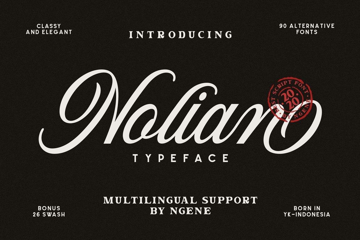 Nolian-Script-Typeface