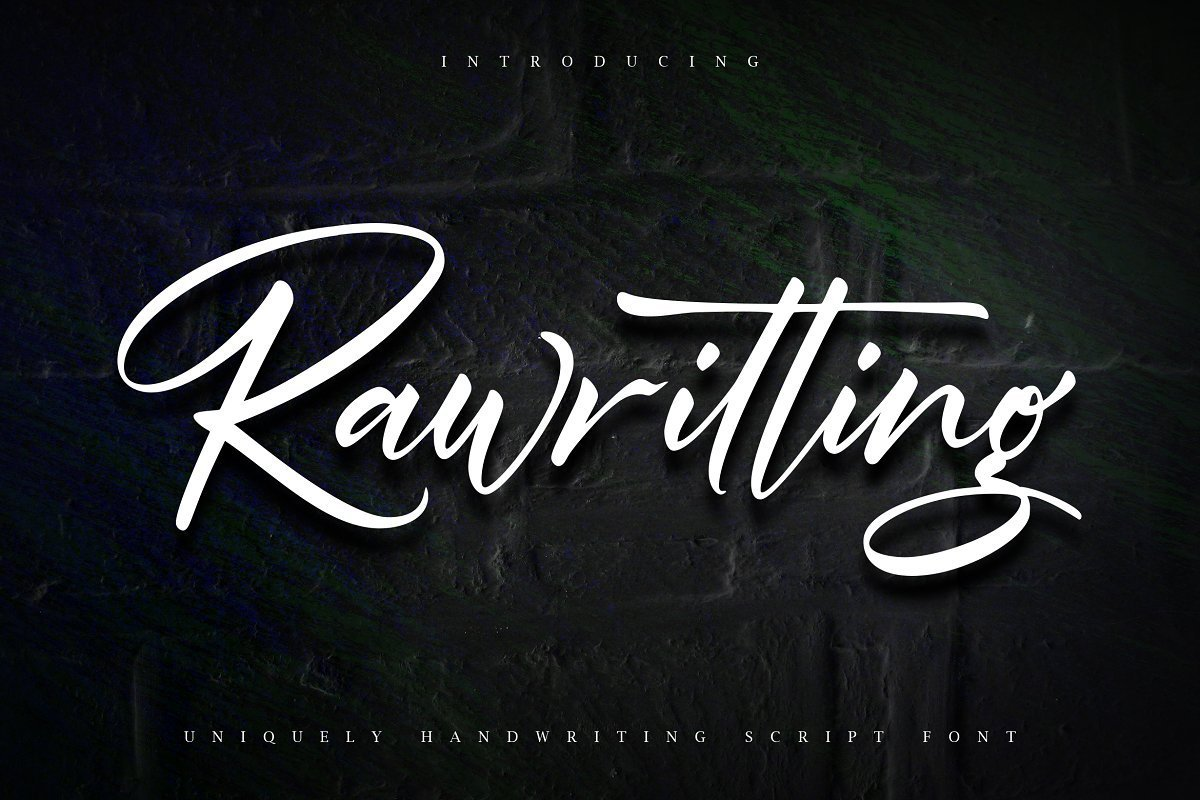 Rawriting-Uniquely-Handwriting-Script-Font-1