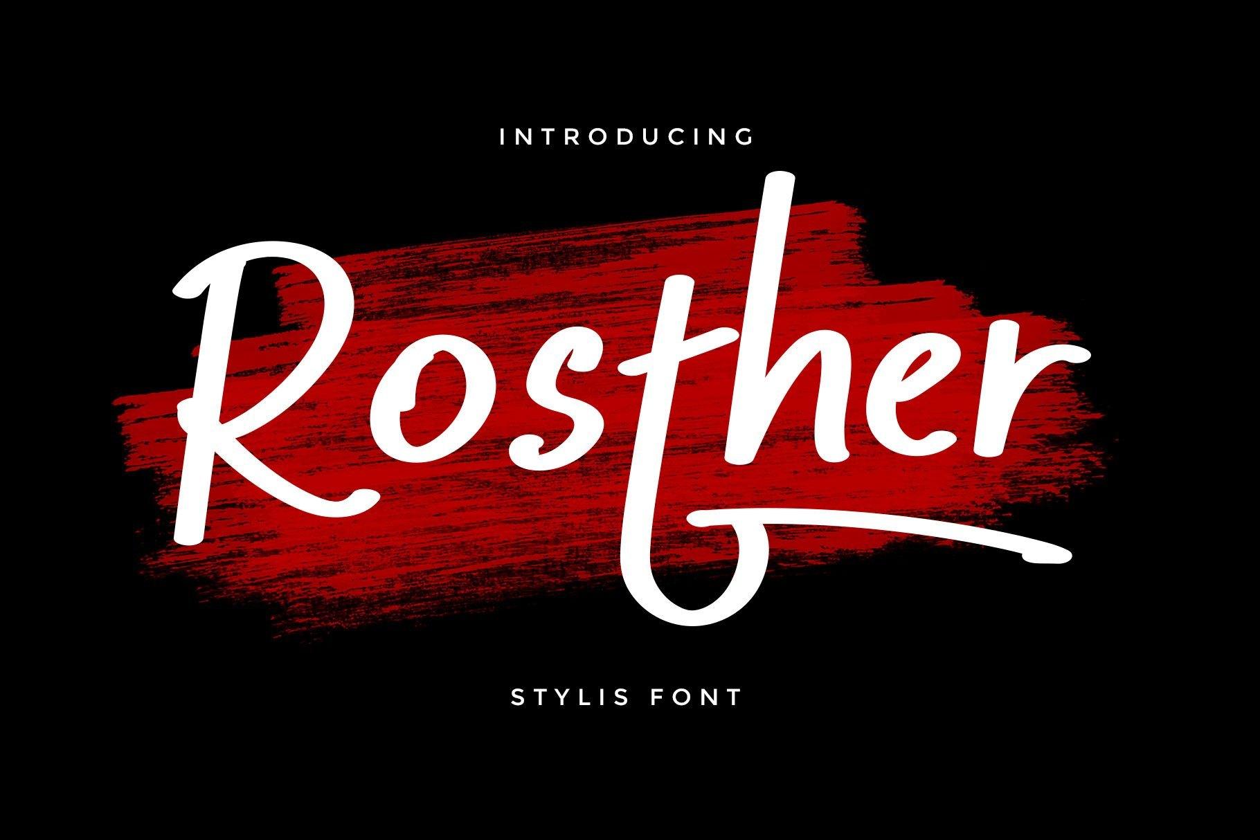 Rosther-Bold-Script-Font