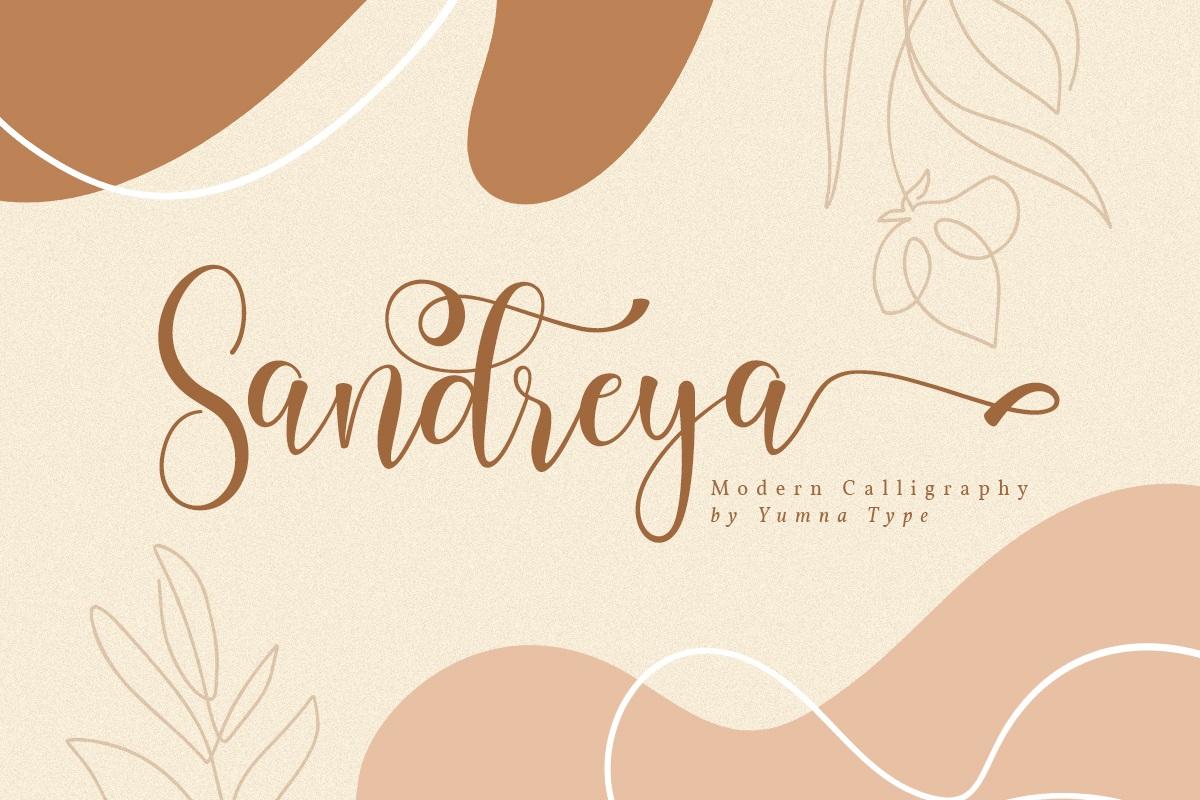 Sandreya-Modern-Calligraphy-Font