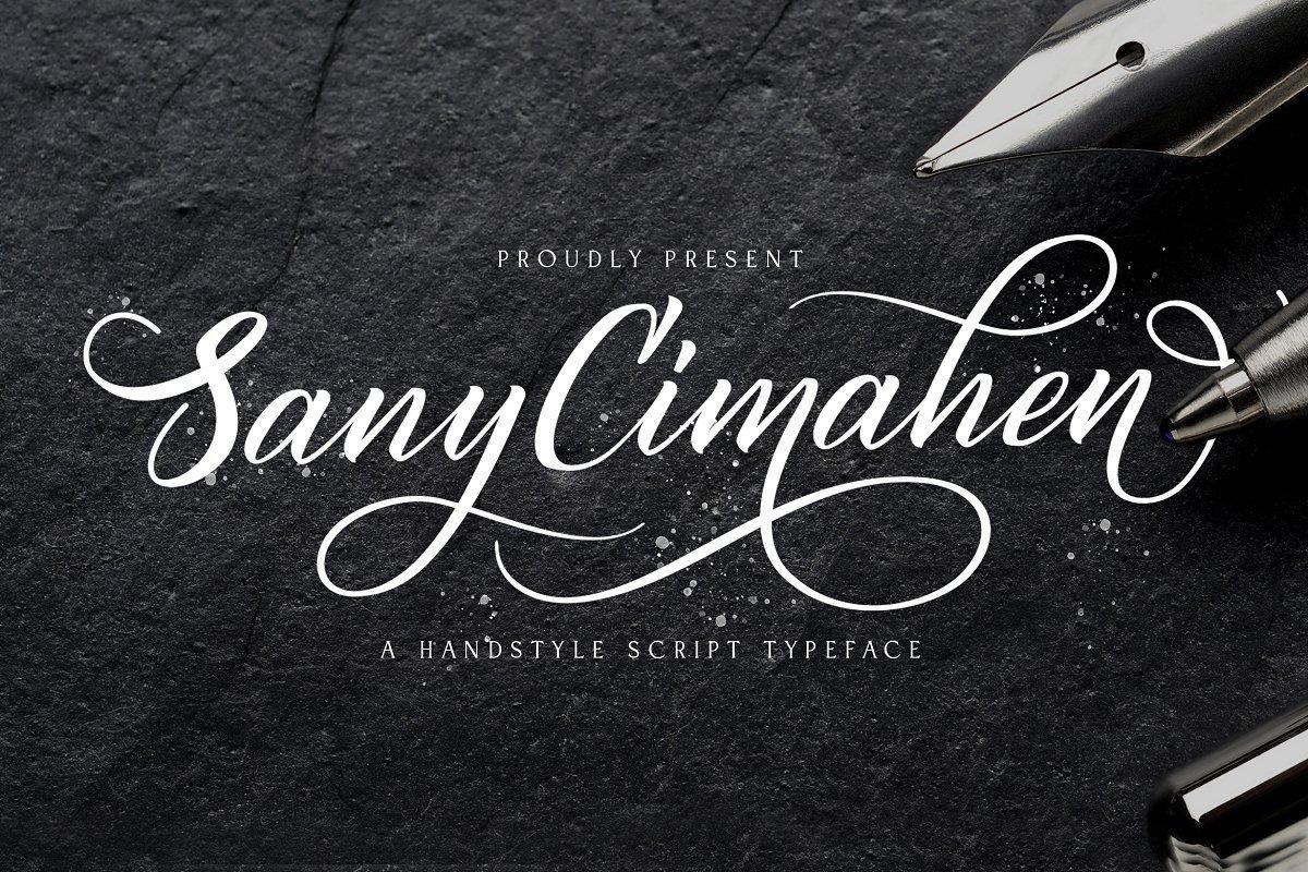 Sany-Cimahen-Calligraphy-Script-Font-1