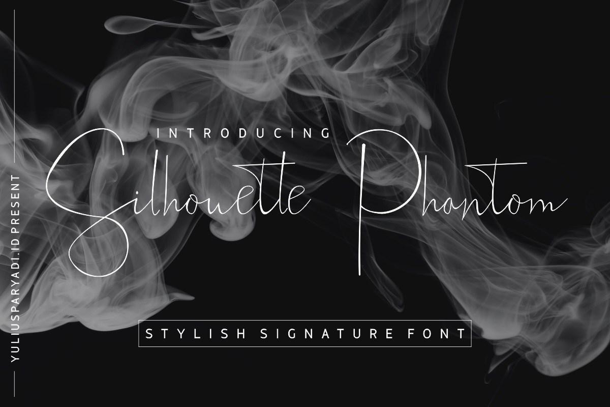Silhouette-Phantom-Signature-Handwritten-Font