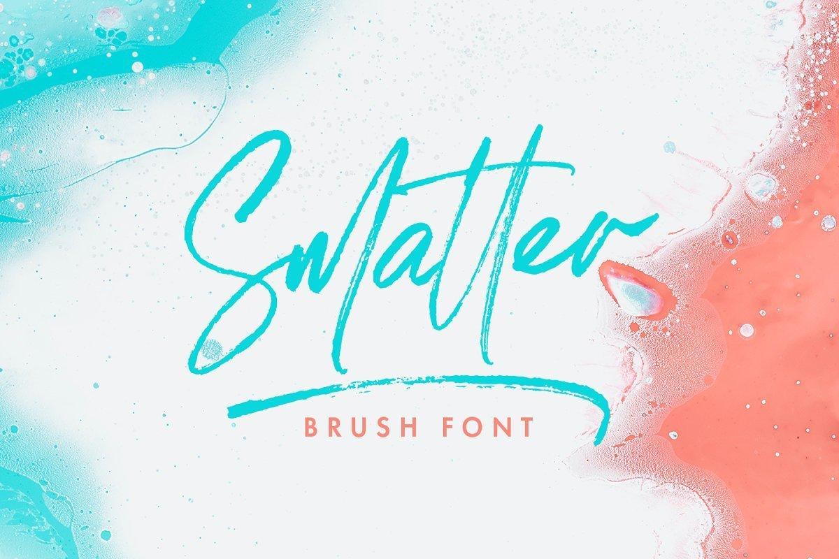 Smatter-Brush-Script-Font