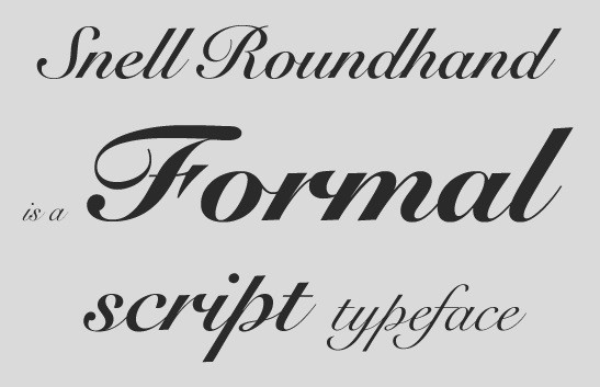 Snell Roundhand Bold Script Font