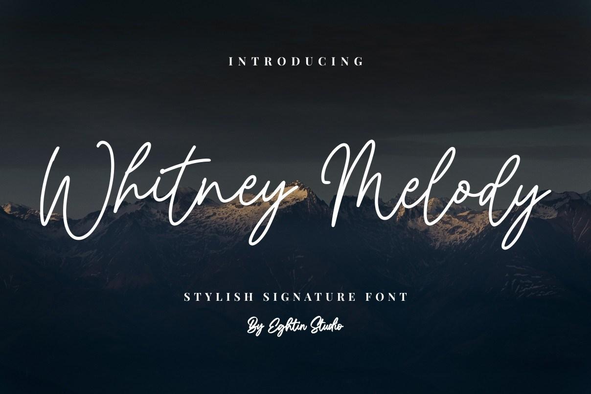 Whitney-Melody-Stylish-Signature-Font