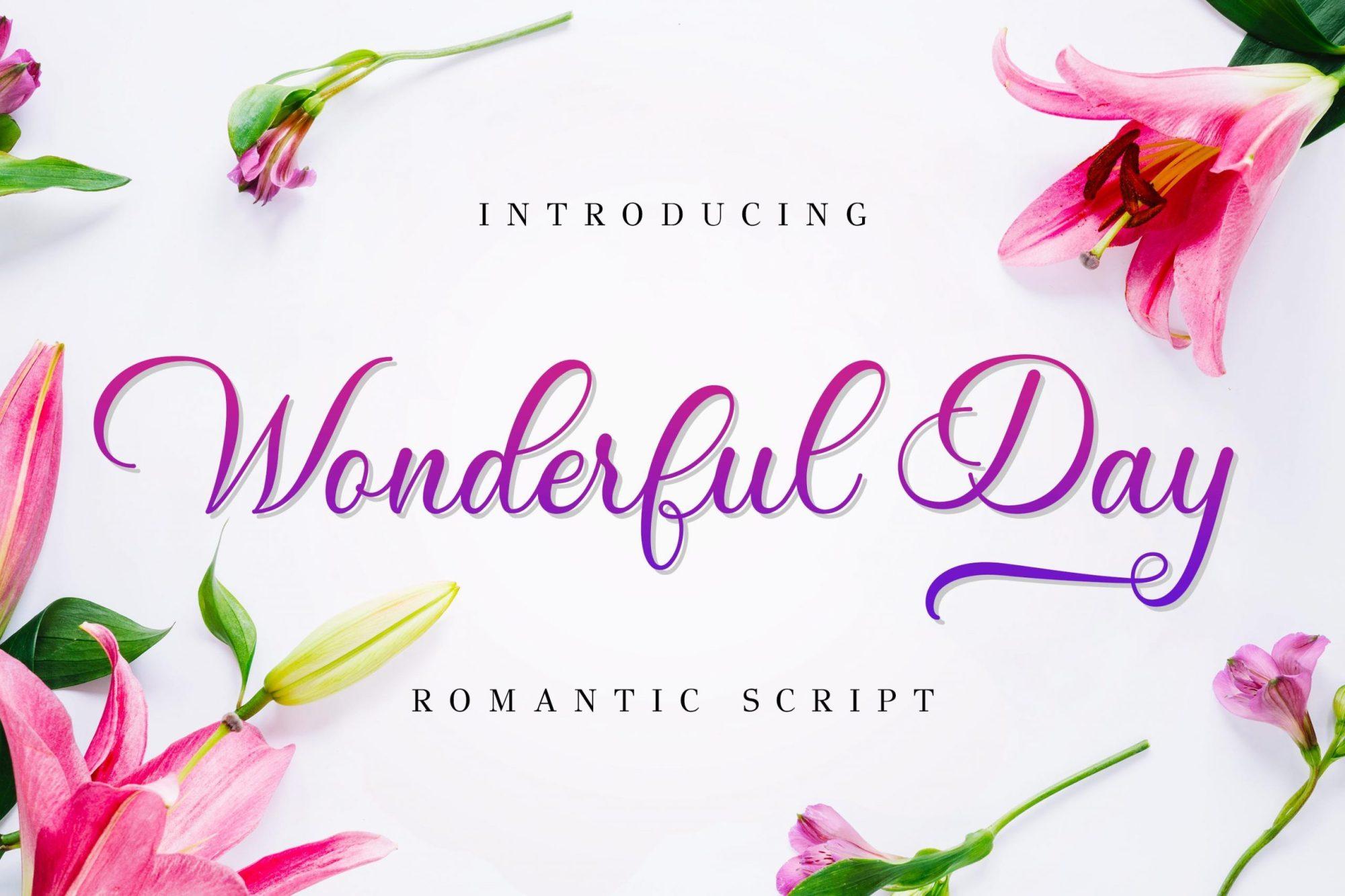 Wonderful-Day-Romantic-Calligraphy-Script-Font