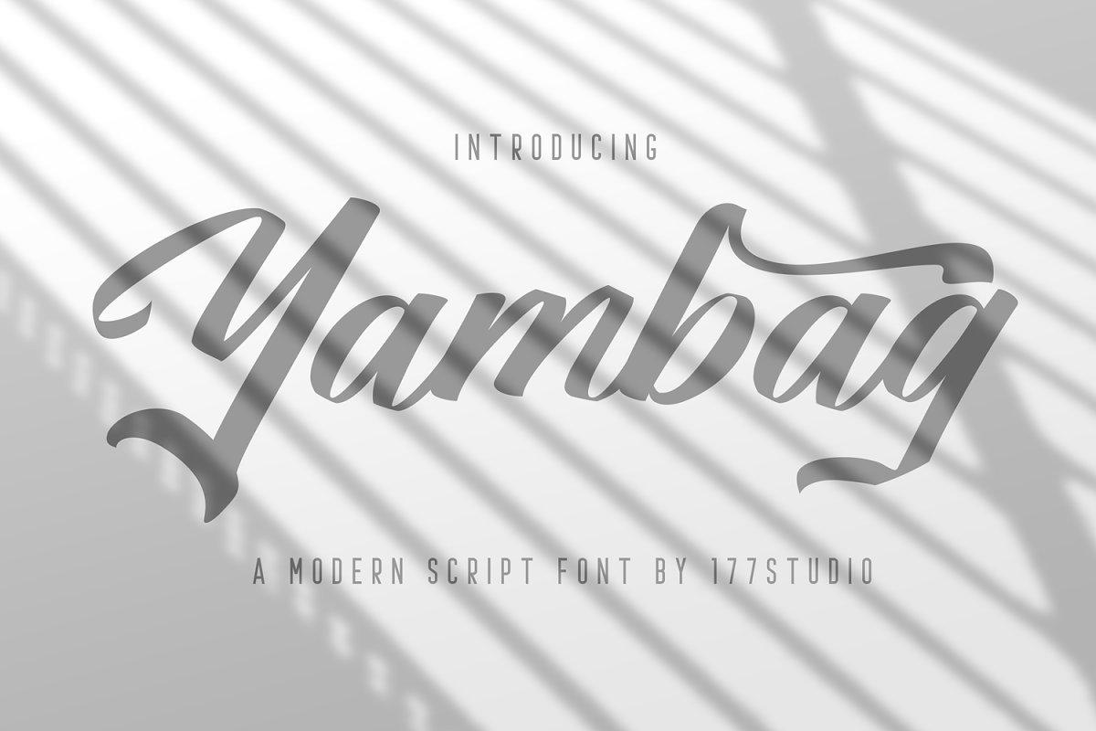 Yambag-Modern-Script-Font